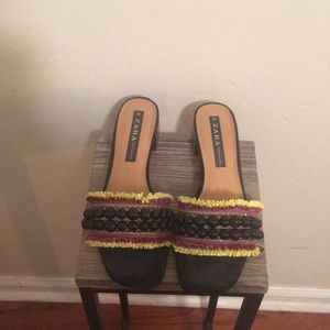 Zara beaded slides! So fun!